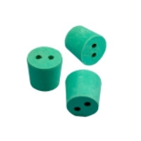 CapitolBrand® Two-Hole Green Neoprene Stoppers