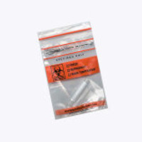 Globe Scientific Biohazard Specimen Transport Bags with Tearzone and Zipper Seal