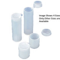 Azlon Hinged Lid Round Specimen Containers with Plug Cap, LDPE