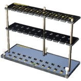 Kimble® 2212N Six-Slot Biohazard ESR Blood Collection Tube Rack for Westergren and Wintrobe Tubes, Erythrocyte Sedimentation Rate (ESR)