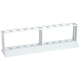 Kartell® 259845 Tiered 10-Well Test Tube Racks for 18mm Test Tubes, 2 Tiers, White HDPE