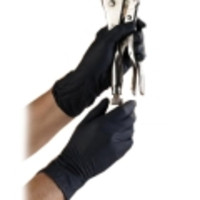 Ansell® ONYX® N64 Black Nitrile Exam Gloves, Powder-Free