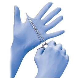 High Five N253 Extra Thick Blue Nitrile Exam Gloves With