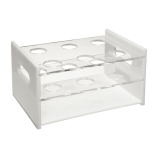 Dynalon® 159534-0001 Six-Place Hybridization Tube Storage Rack for 38mm Hybridization Tubes, Acrylic