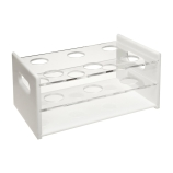 Dynalon® 159534-0002 Six-Place Hybridization Tube Storage Rack for 44mm Hybridization Tubes, Acrylic