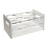 Dynalon® 159534-0003 Four-Place Hybridization Tube Storage Rack for 80mm Hybridization Tubes, Acrylic