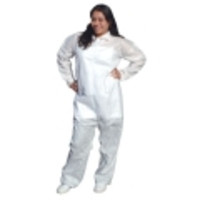 Ansell® Edge™ 67-150 White SMS Polypropylene Coveralls