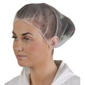 High Five AH733 White Nylon Hairnets, 21-Inch Heavy-Duty Elastic Band, Dispenser Packed (Case of 1000)