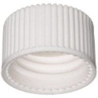 Wheaton® White Polypropylene Screw Caps with PTFE-Faced Silicone Liner