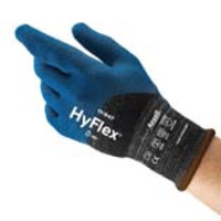 Ansell® HyFlex® 11-947 Oil & Cut Resistant Knit Gloves with Polyurethane-Nitrile Coating