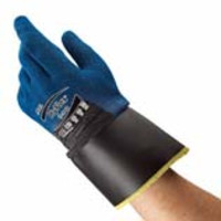 Ansell® HyFlex® 11-948 Oil & Cut Resistant Gloves with Polyurethane-Nitrile Coating & Safety Cuff