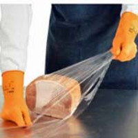 Ansell® AlphaTec® 87-320 Canner and Handler Latex Gloves with Flock Liner, Orange