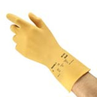 Ansell® AlphaTec® 88-343 Canner and Handler Latex Gloves, Unlined, Amber