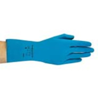 Ansell® AlphaTec® 88-356BT Ultra-Thin Canner and Handler Latex Gloves, Unlined, Blue
