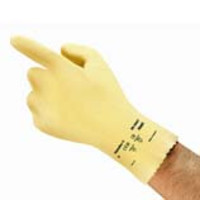 Ansell® AlphaTec® 88-390T Ultra-Thin Canner and Handler Neoprene-Latex Gloves, Unlined, Yellow