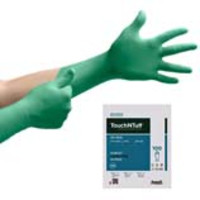 Ansell® TouchNTuff® 93-300 Cleanroom Nitrile Gloves, Class 100 (ISO 5), Green