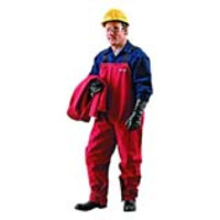 Ansell® AlphaTec® 66-662 Chemical Resistant Bib Overalls, Red Polyester