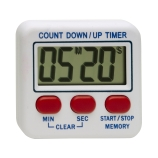 H-B Instrument 521 DURAC® Single Channel Digital Timer, with 99Min:59Sec Count Up/Down Time, Three Button Operation, and Pocket Clip, 2.0 x 2.8-Inch, DKD & NIST Traceable