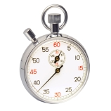 H-B Instrument 545 DURAC® Analog Stopwatch with Crown Stopper, Copper Chromium Plated, 30 Minute 1/5 Second Intervals, 2.5 x 3.3-Inch, DKD & NIST Traceable