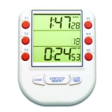 H-B Instrument 575 DURAC® Three Channel Triple Display Digital Timer, 20-Hour with Count Up/Down, Memory and Clock, Battery Operated, 2.6 x 3.5-Inch, DKD & NIST Traceable