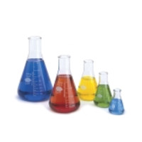 Kimble® KIMAX® Narrow Mouth Erlenmeyer Flasks with Reinforced Beaded Rim