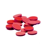Kimble® Flat Disc Septa for Screw Thread Caps, PTFE-Faced Red Rubber